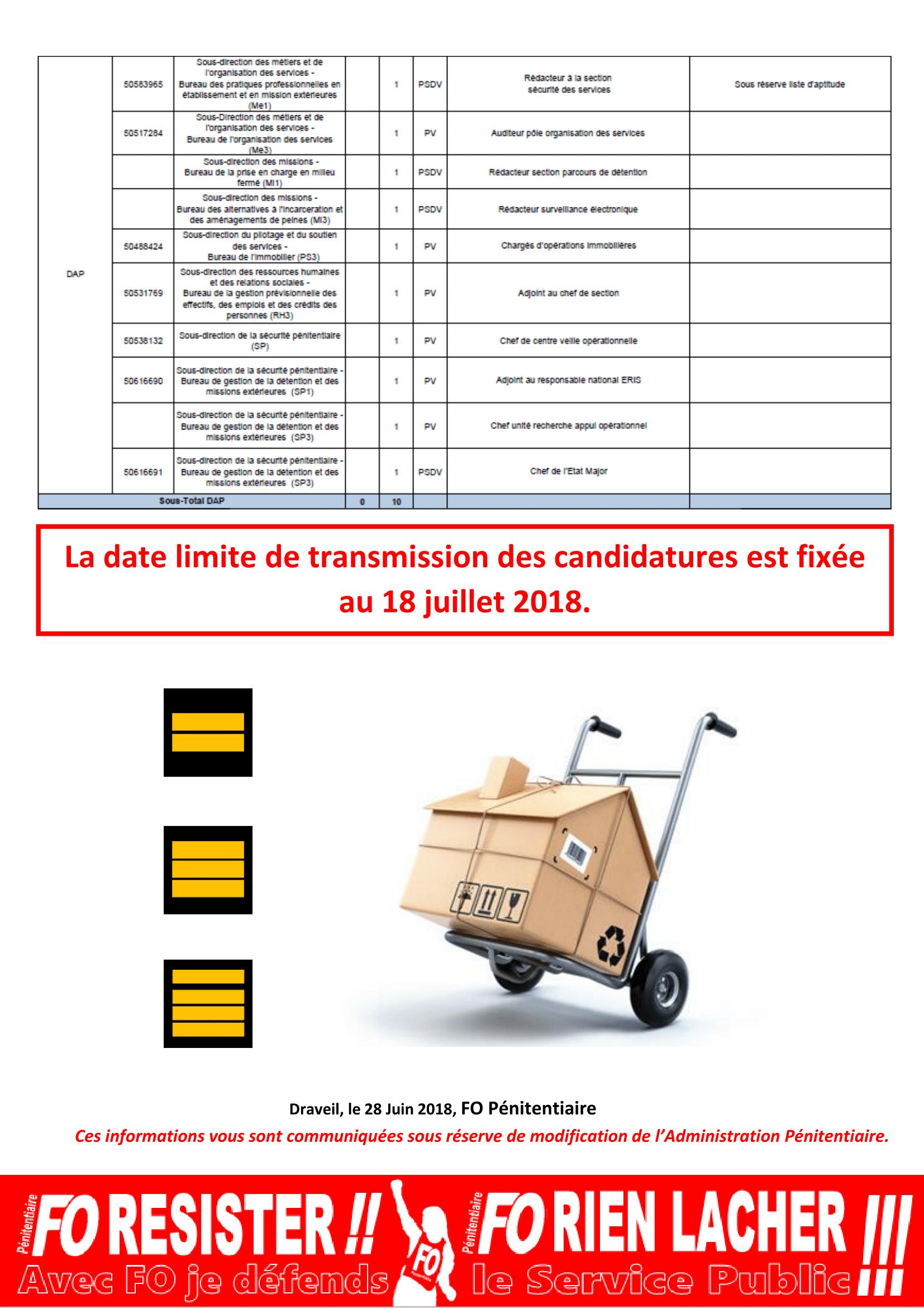 20180628 - Communiqué National - Postes mobilité CDC 12 et 13 juillet 2018-2