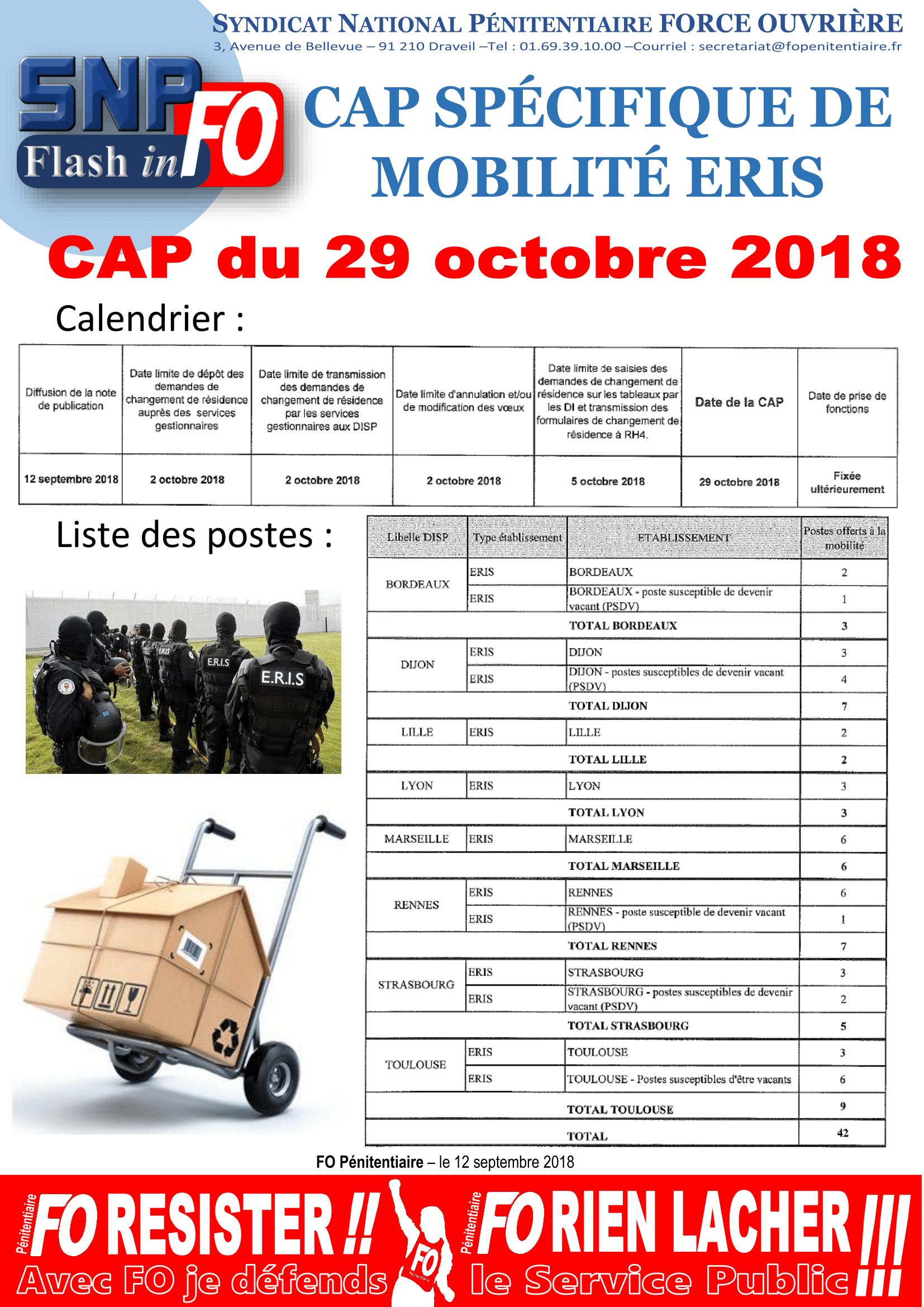 20180912 - Flash-inFO - CAP Spécifique ERIS du 29 Oct 2018-1