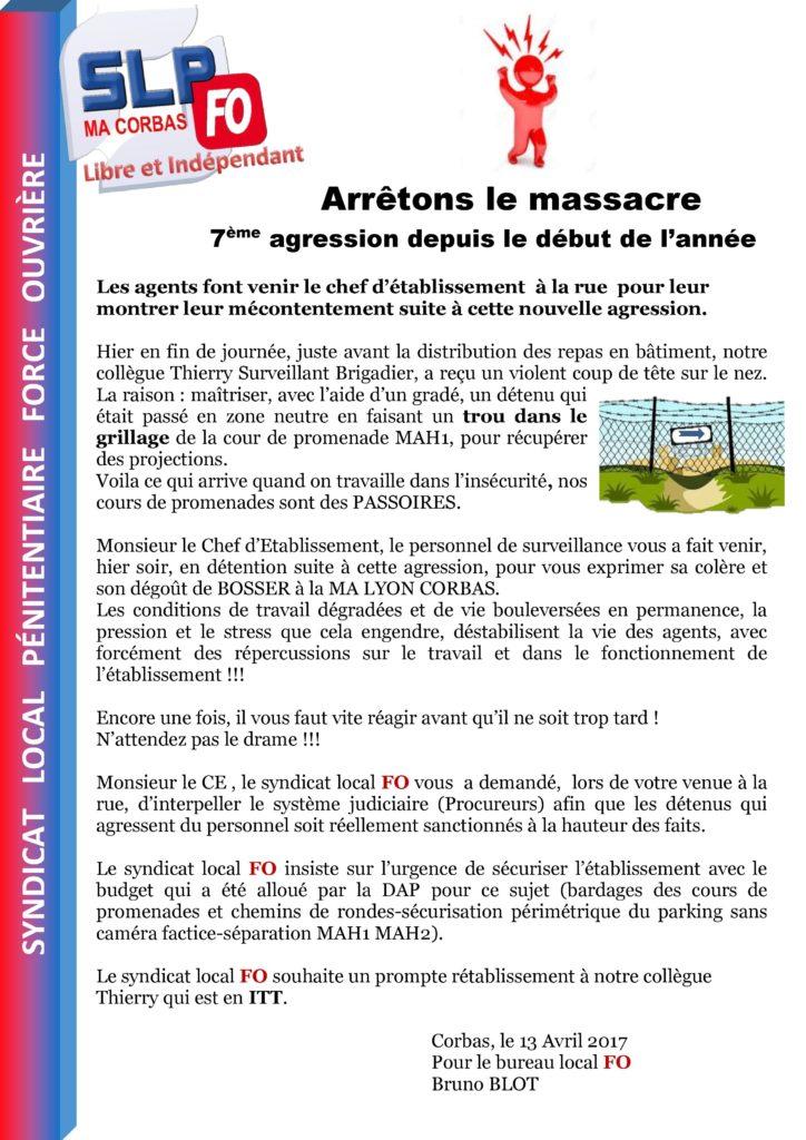 Agression zone neutre fo p nitentiaire uisp rh ne - Cour de cassation bureau d aide juridictionnelle ...