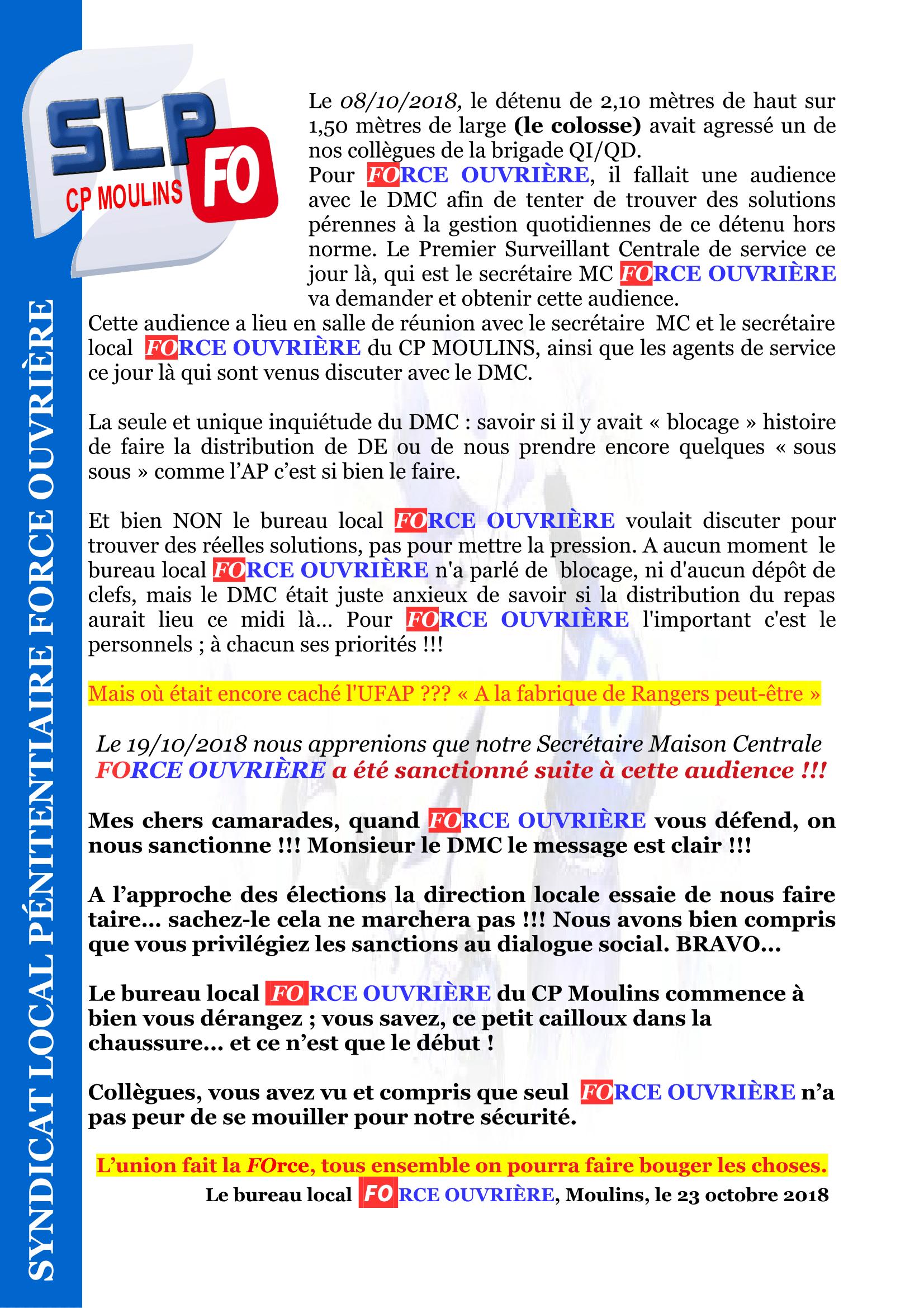 Sanction suite audience DMC CP MOULINS-1