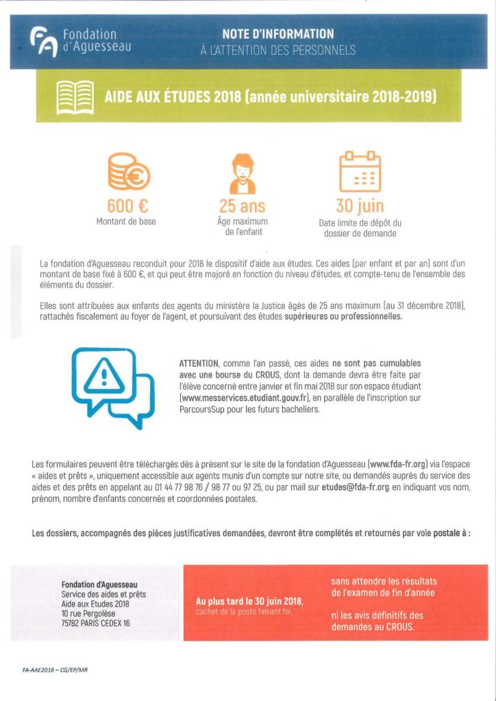 Fondation d'Aguesseau - Aide aux études-2