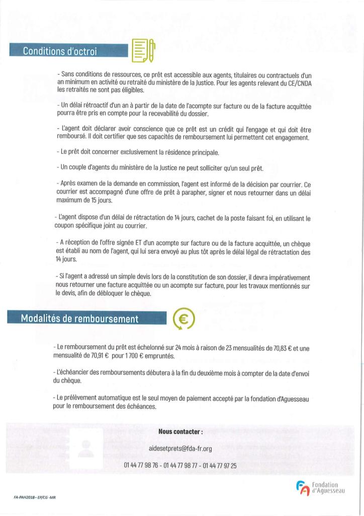 Note d'information Fondation d'Aguesseau 2018-2