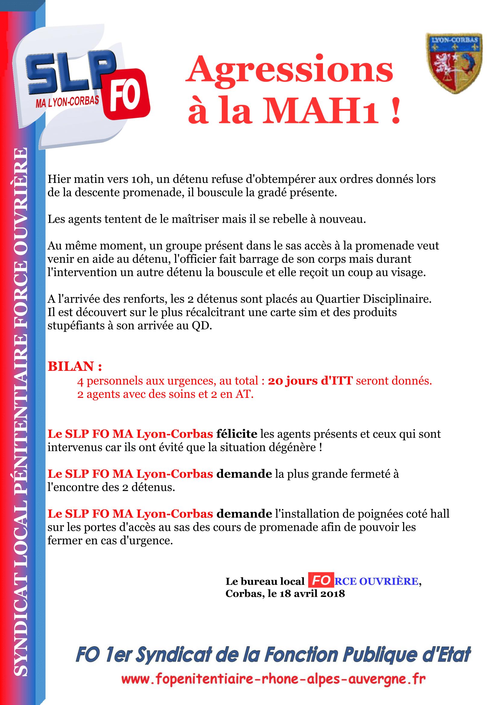 Agressions MAH1-1
