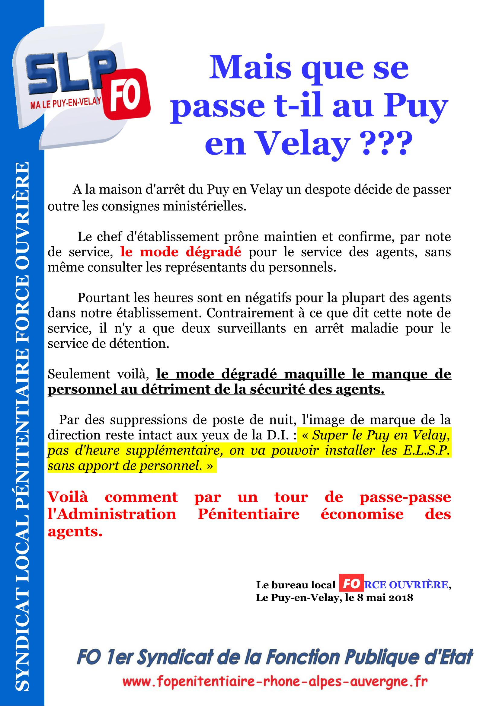Mais que se passe t-il à la MA Le Puy-en-Velay-1