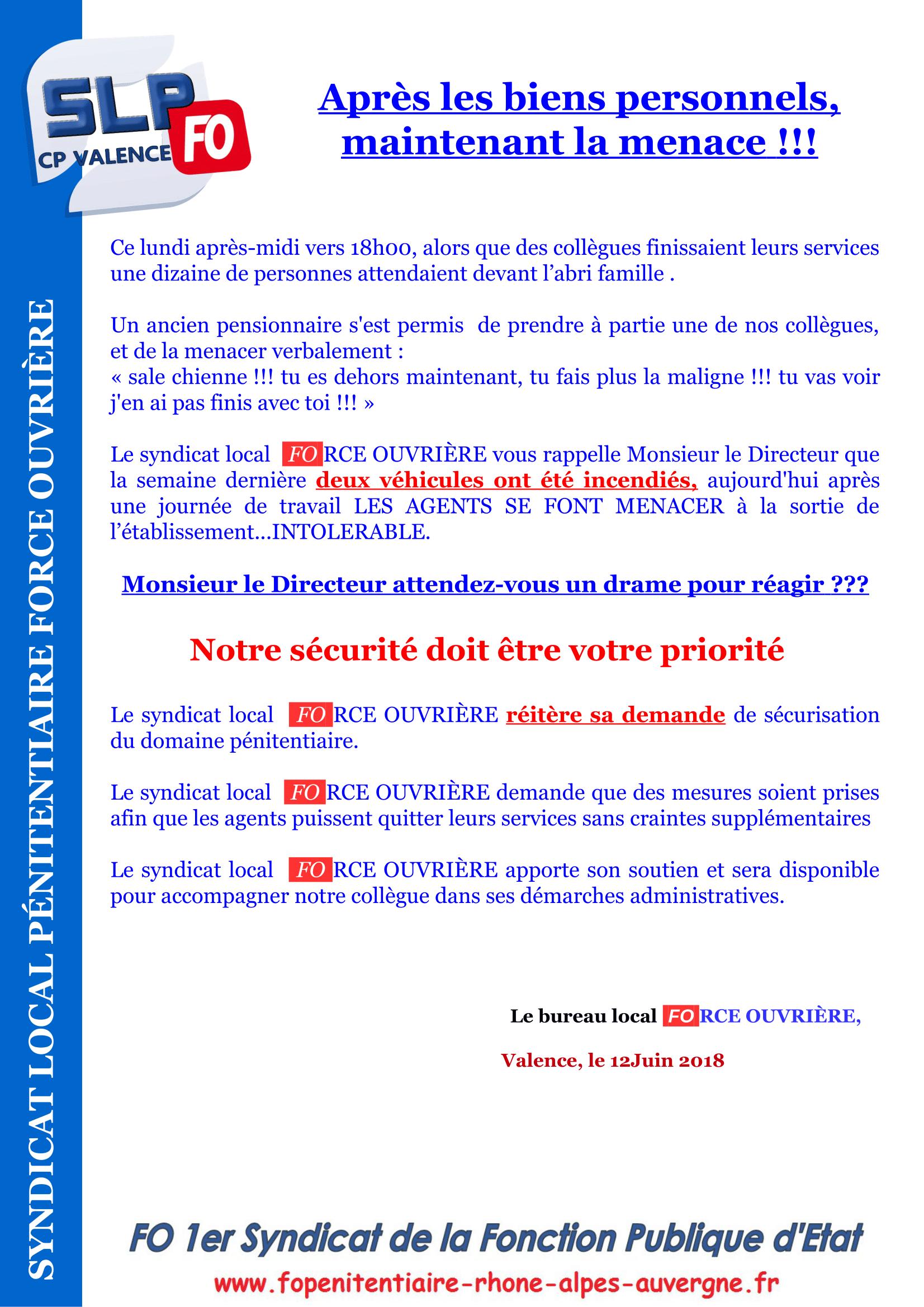 TRACT VALENCE MENACE-1