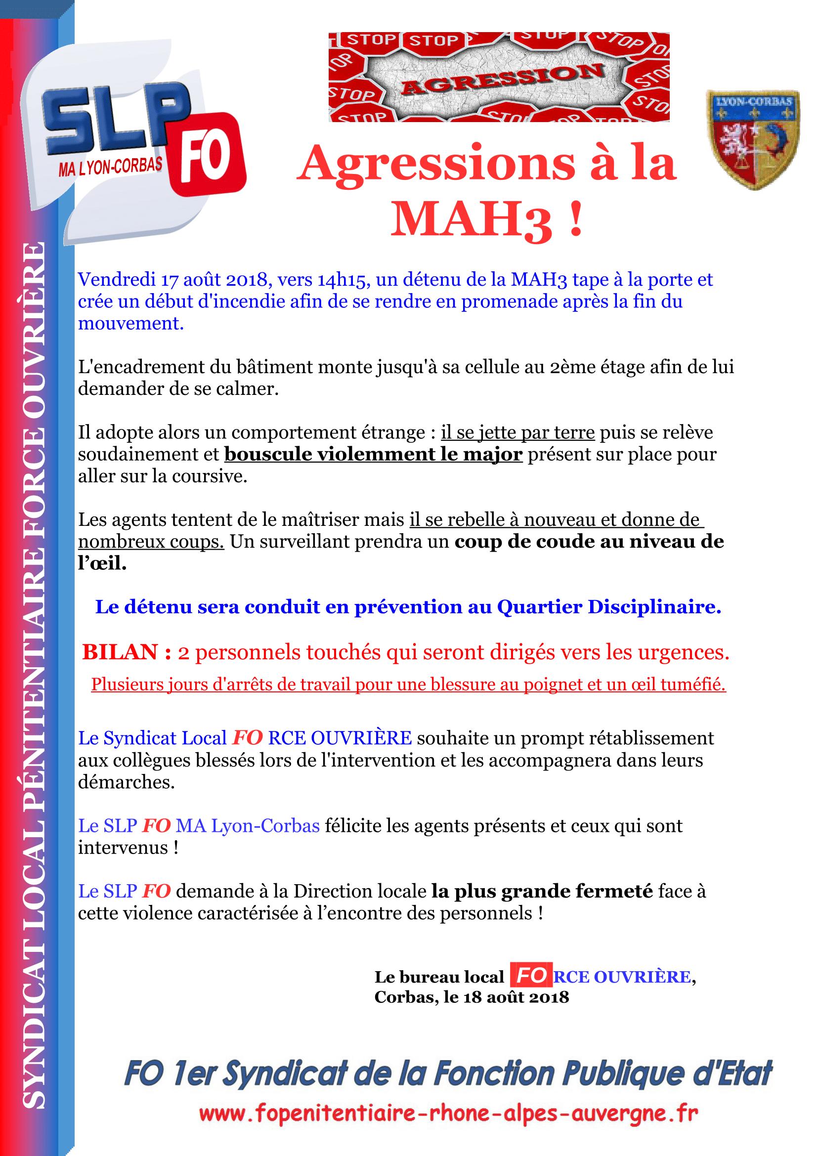 Agressions MAH3-1