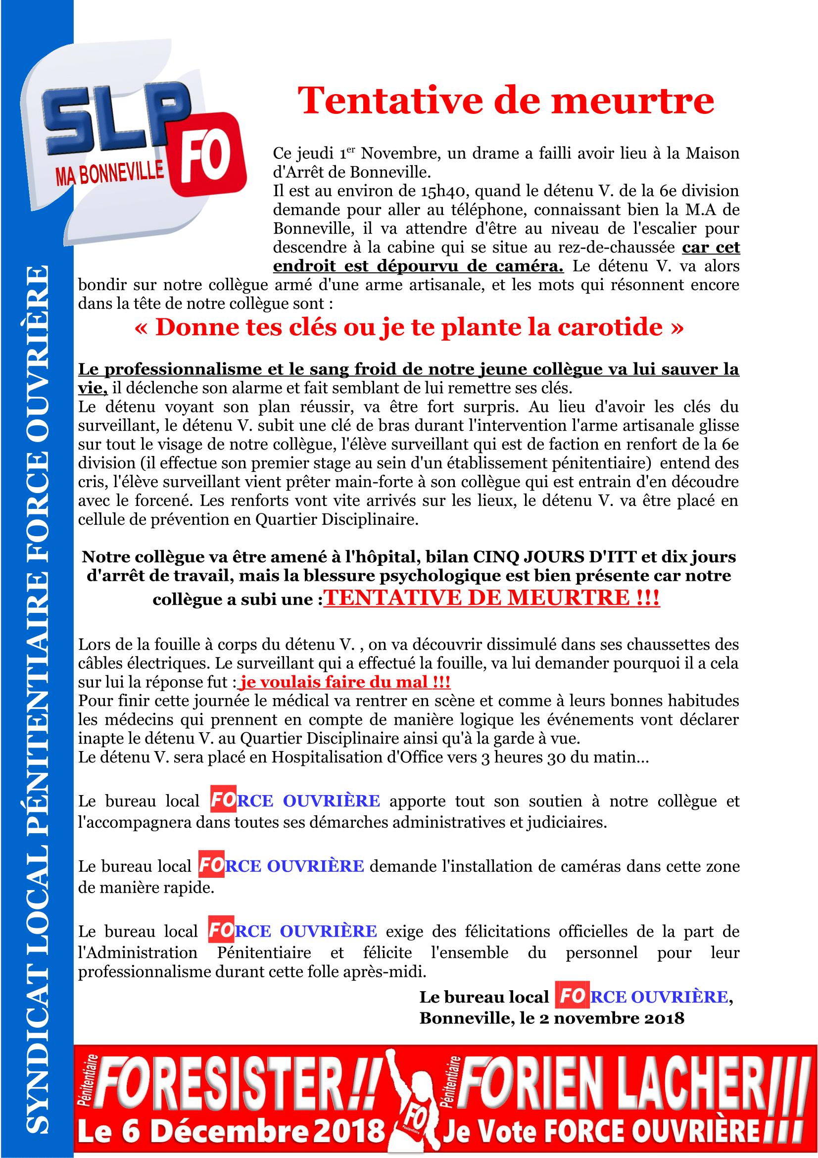 Tentative de Meurtre MA Bonneville 021118-1